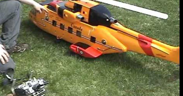 Scalpé par son nouvel hélicoptère télécommandé